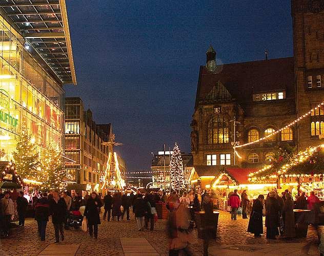 Budenzauber auf dem Chemnitzer Weihnachtsmarkt FOTO: SVEN GLEISBERG