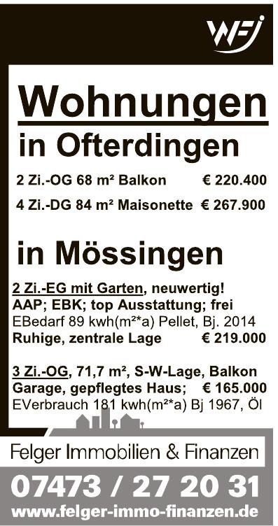 Wolfgang Felger Immobilien & Finanzen