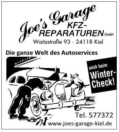 Joe´s Garage KFZ-Reparaturen GmbH