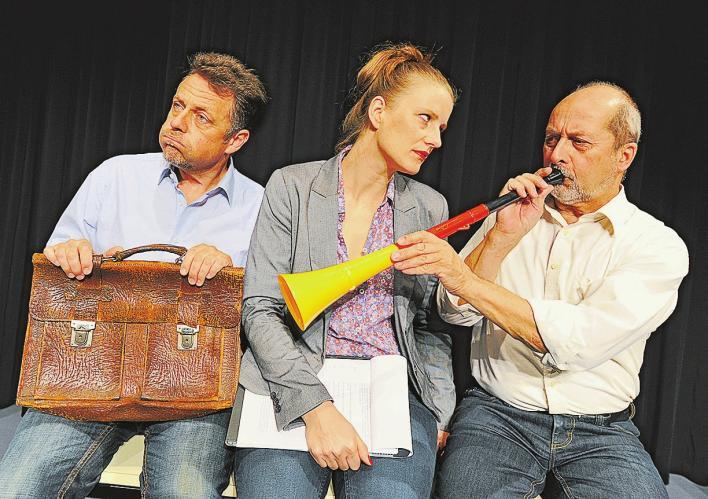 v.l.n.r. Rainer Koschorz, Rebekka Köbernick, Dieter Richter Foto: Markus Scholz