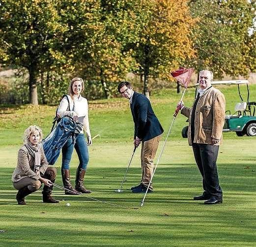Bettina, Victoria, Valentin und Wilhelm Eckard Sindt vom Golf- und Landclub Gut Uhlenhorst (v.li.n.re.). FOTO: PEPE LANGE