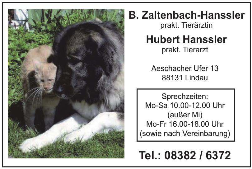 B. Zaltenbach-Hanssler prakt. Tierärztin, Hubert Hanssler prakt. Tierarzt