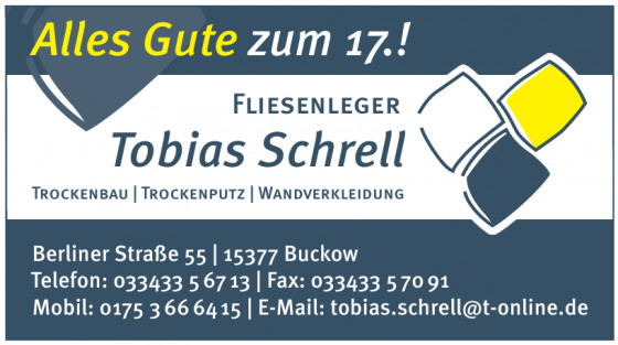 Fliesenleger Tobias Schrell