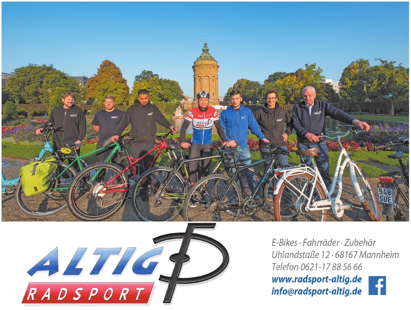 E-Bikes · Fahrräder · Zubehör