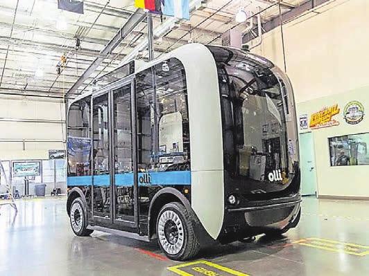 Oder sieht die Zukunft so aus, mit einem elektrisch betriebenen Quartiersbus wie dem Olli? Foto: local motors