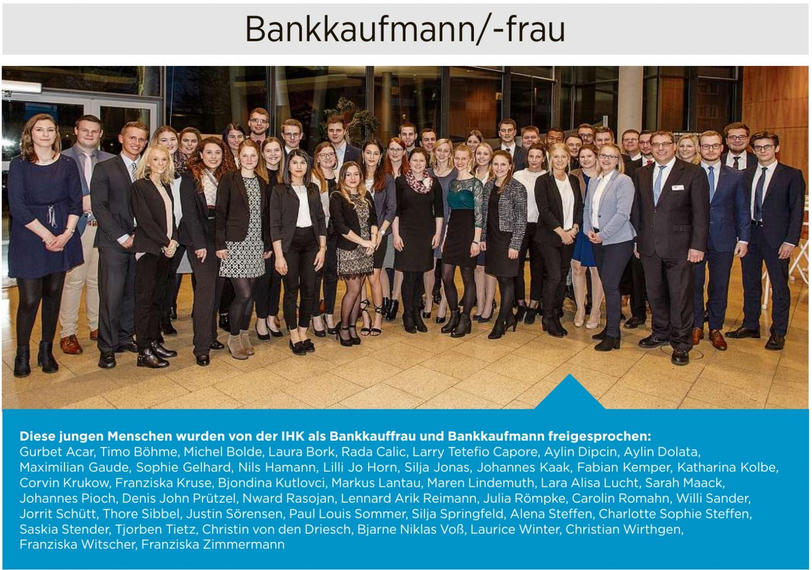 Bankkaufmann/-frau