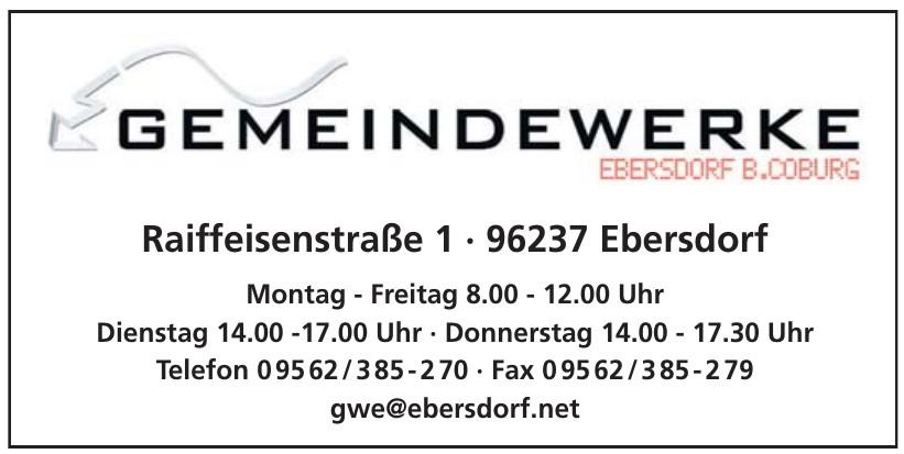 Gemeindewerke Ebersdorf B.Coburg