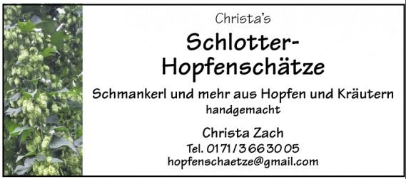 Christa's Schlotter-Hopfenschätze