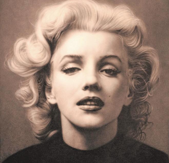Marilyn Monroe auf einem Gemälde von Alexander TimofeevBILD: TED STAMPFER
