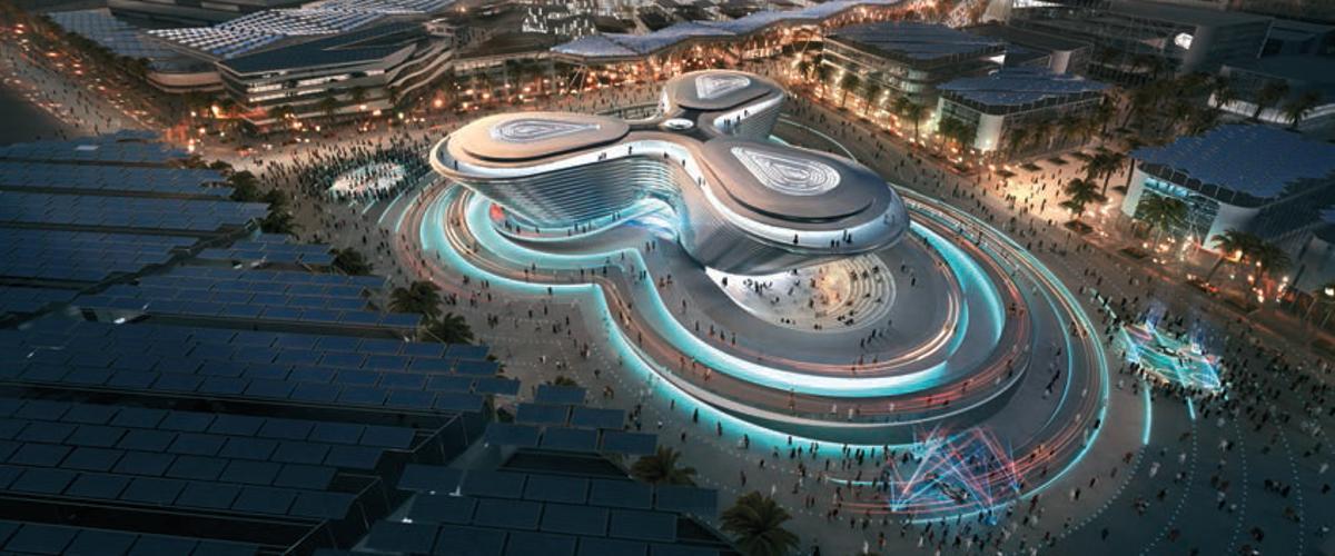 Futuristisch: Der Expo-Themen-Pavillon Mobility