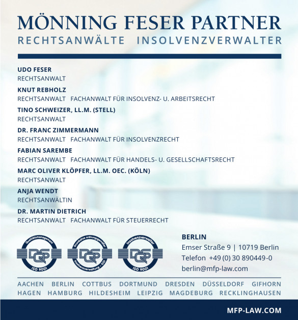 MFP Mönning Feser Partner Rechtsanwälte Insolvenzverwalter