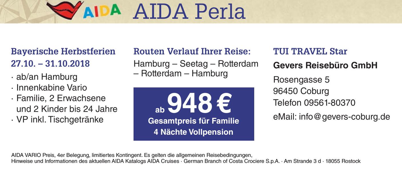 AIDA Perla - Gevers Reisebüro GmbH