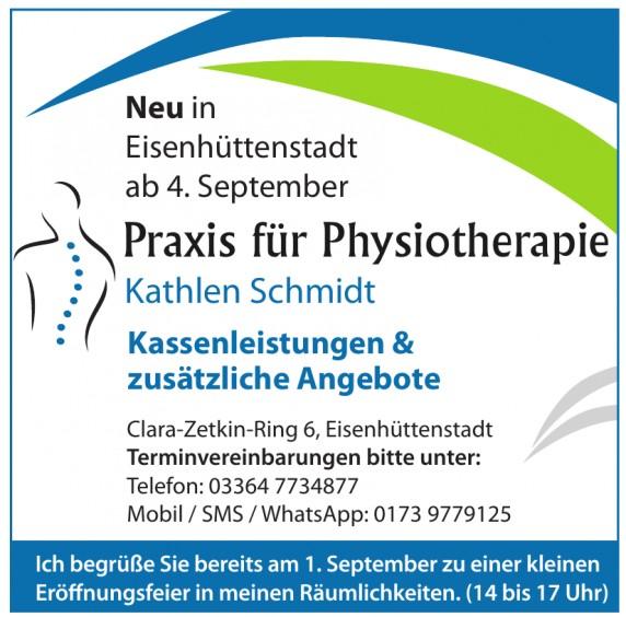 Praxis für Physiotherapie Kathlen Schmidt