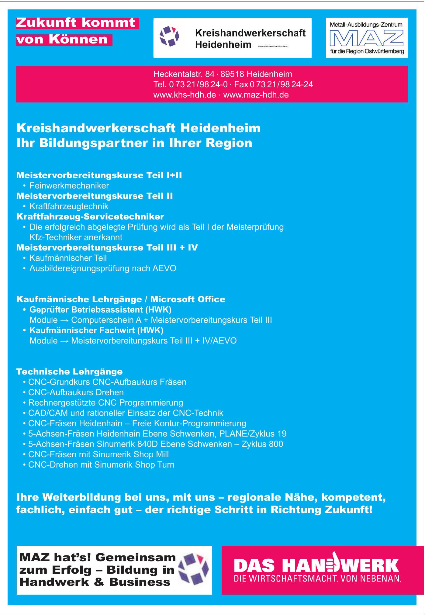 Kreishandwerkerschaft Heidenheim KdöR