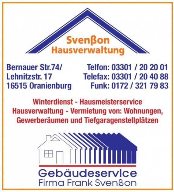 Gebäudeservice Frank Svenßon