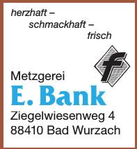 Metzgerei E. Bank