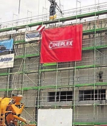 Stein auf Stein: Die Bauarbeiten sind abgeschlossen. Ab Samstag, 17. März, um 18 Uhr, öffnet das Cineplex Meitingen für die Besucher seine Pforten.