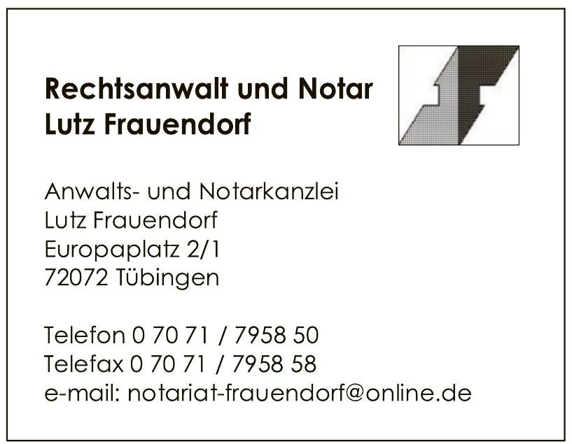Rechtsanwalt und Notar Lutz Frauendorf