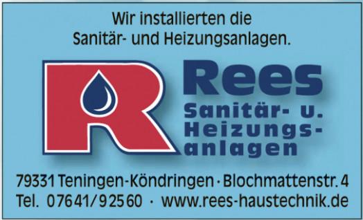 Rees Sanitär- u. Heizungsanlagen