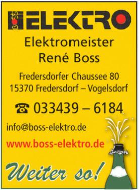 Elektromeister René Boss