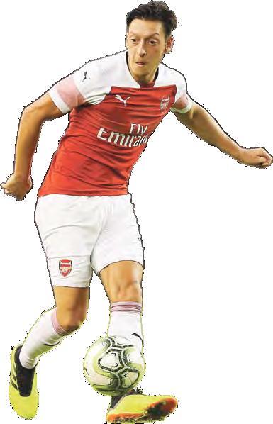 Im Testspiel gegen PSG erstmals Arsenal-Kapitän: Mesut Özil.
