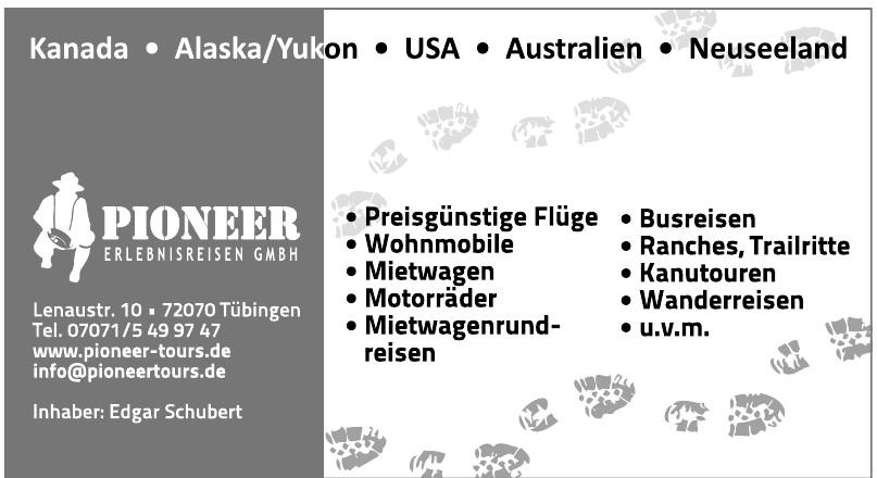 Pioneer Erlebnisreisen GmbH