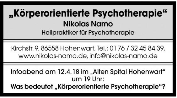 Nikolas Namo Heilpraktiker für Psychotherapie