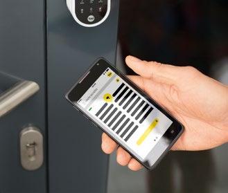 Die digitale Schließlösung ENTR von Assa Abloy lässt sich in das Smart-Living-System integrieren und so mit einer Alarmanlage kombinieren Foto: Assa Abloy Sicherheitstechnik GmbH