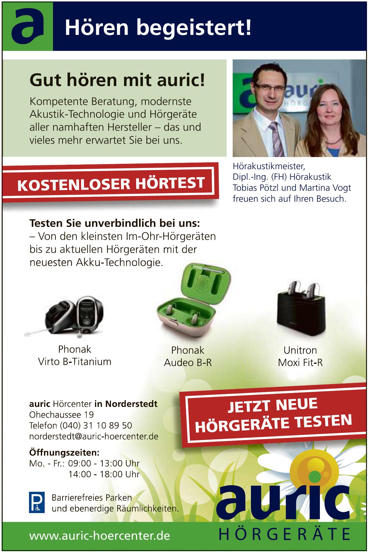 auric Hör- und Tinnitus-Zentrum Norderstedt GmbH & Co. KG