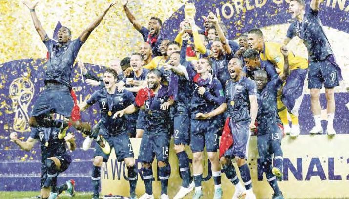 """Der zweite Weltmeistertitel für die """"Grande Nation"""": Frankreich schlug Kroatien mit 4:2 im WM-Finale. Basis des Erfolgs war laut Hitzfeld die gesicherte Defensive."""