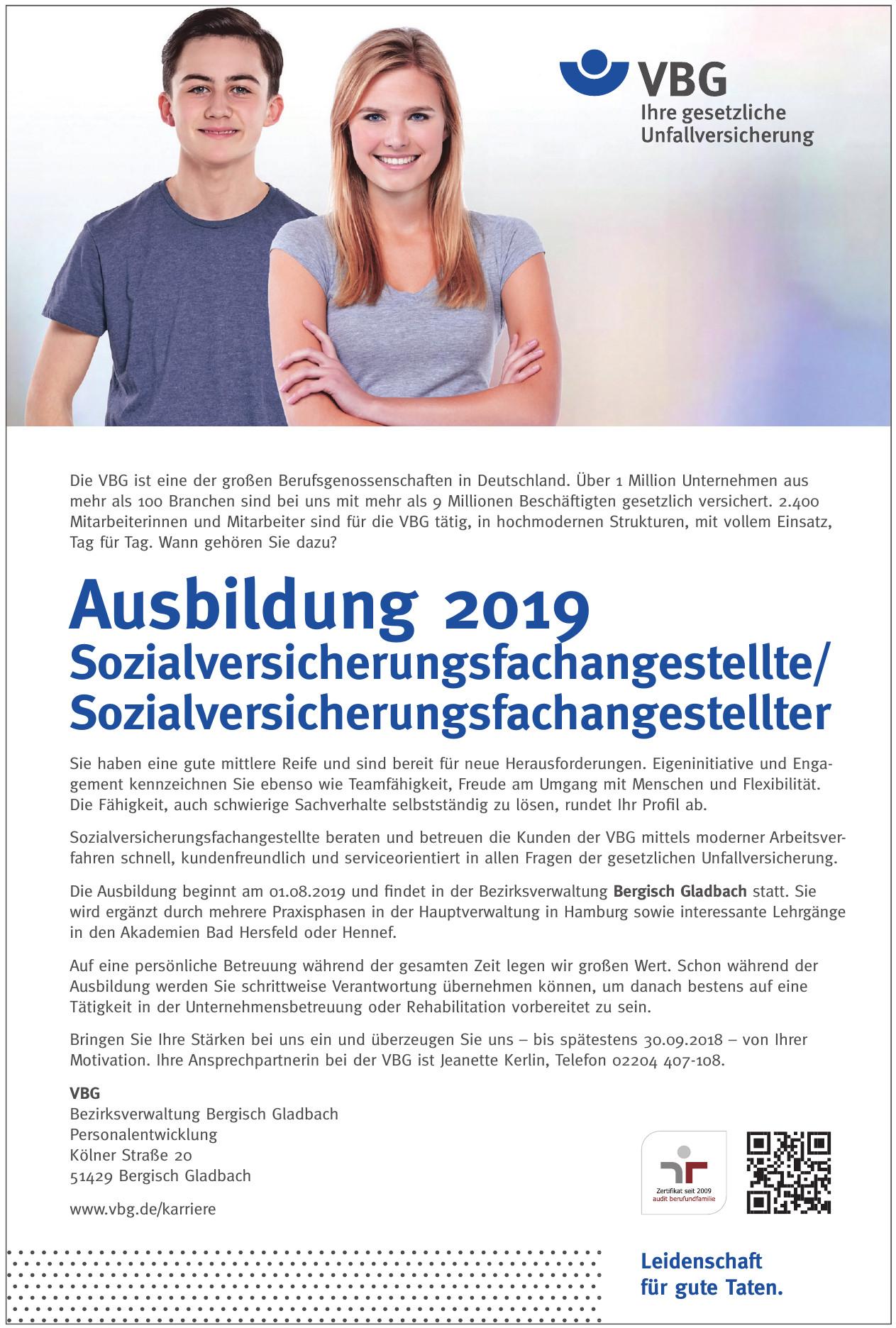 VBG - Bezirksverwaltung Bergisch Gladbach