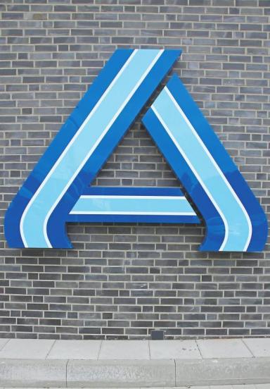 Das Logo von Aldi Nord.