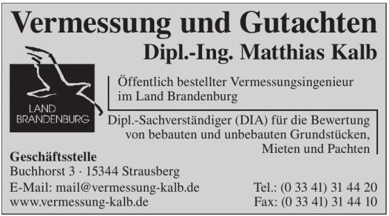 Vermessungsbüro Dipl.-Ing. Matthias Kalb