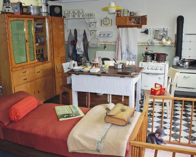 Die Küche war der wichtigste Raum für die ganze Familie.