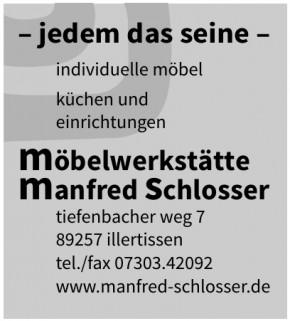 Manfred Schlosser Möbelwerkstätte
