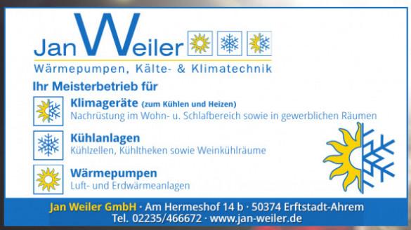Jan Weiler GmbH Wärmepumpen, Kälte- & Klimatechnik