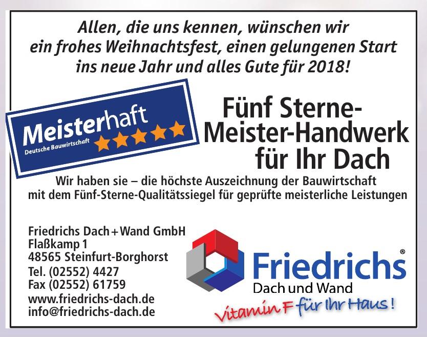 Friedrichs Dach und Wand