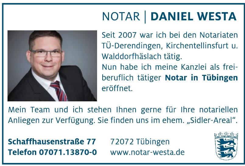 Notar Daniel Westa