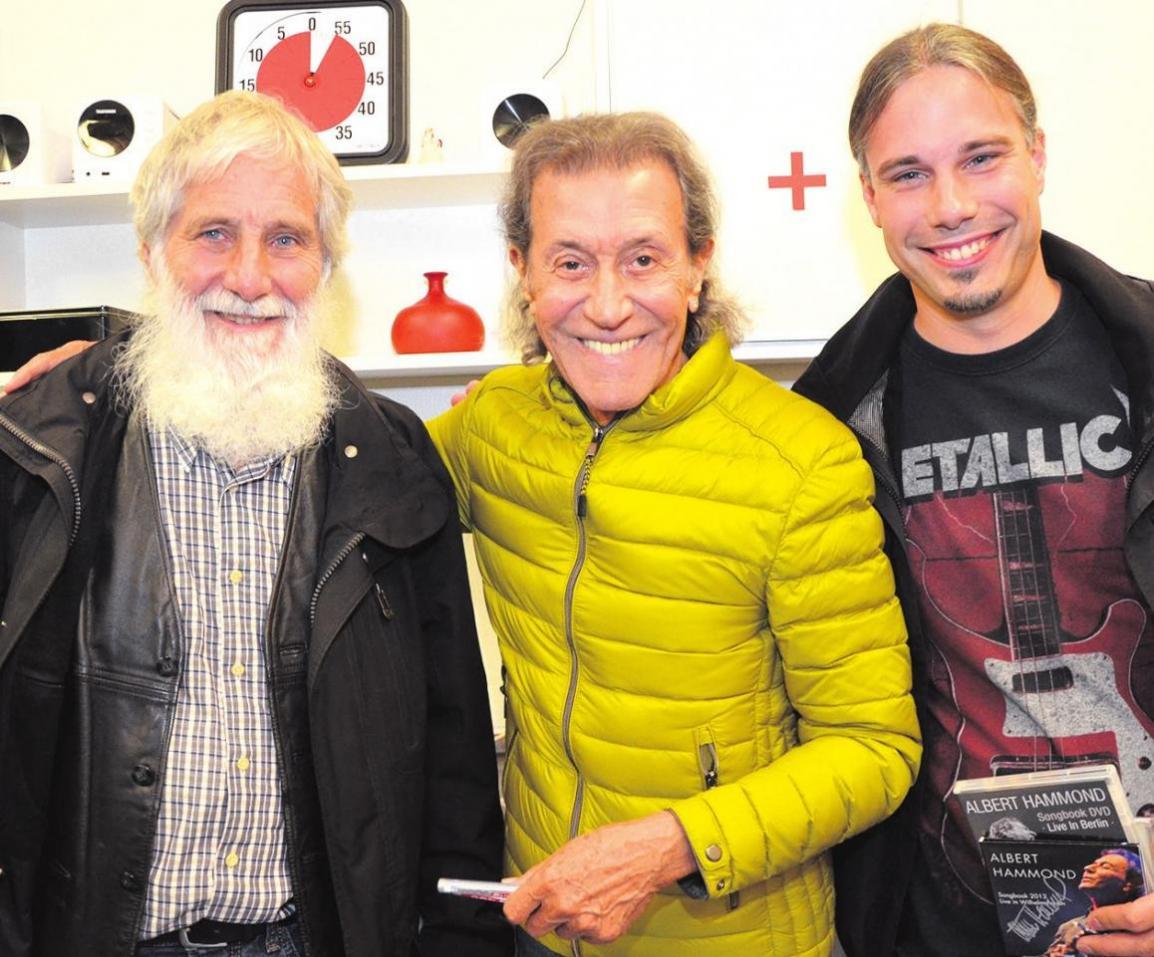 ... sowie Gewinner Erich Becker (von links), Albert Hammond und Andreas Becker. Fotos: Markus Weyel