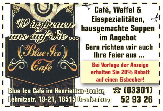 Blue Ice Café im Henrietten-Center