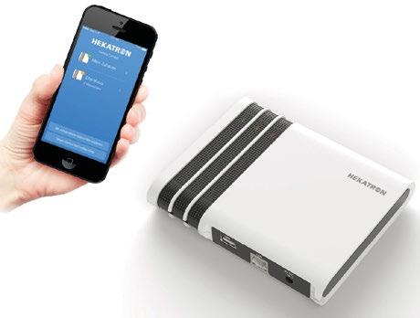 Mit der Genius Control App kann der Genius Port in Betrieb genommen und konfiguriert werden