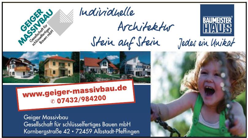 Geiger Massivbau Gesellschaft für schlüsselfertiges Bauen mbH