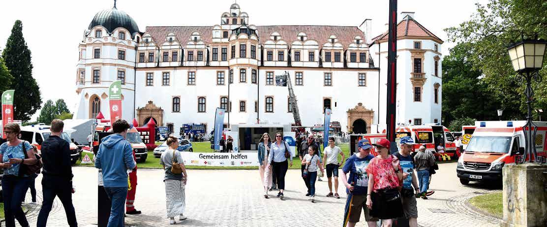 """Celles Oberbürgermeister Dr. Jörg Nigge erinnert daran, dass im Jubiläumsjahr 2017 zahlreiche Veranstaltungen, wie der """"Tag der Vereine"""", stattfanden. Archivfoto: Lisa Müller"""
