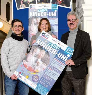 Tobias Zetzsche (von links), Tessa Twele und Axel Lohöfener freuen sich auf das neue Semester. Foto: Knoblich