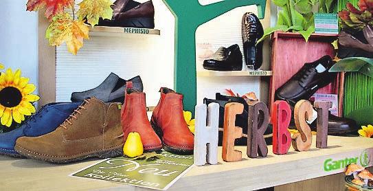 Farben so bunt wie das Herbstlaub – so zeigt sich die neue Generation Komfortschuhe im Schuhhaus Menze