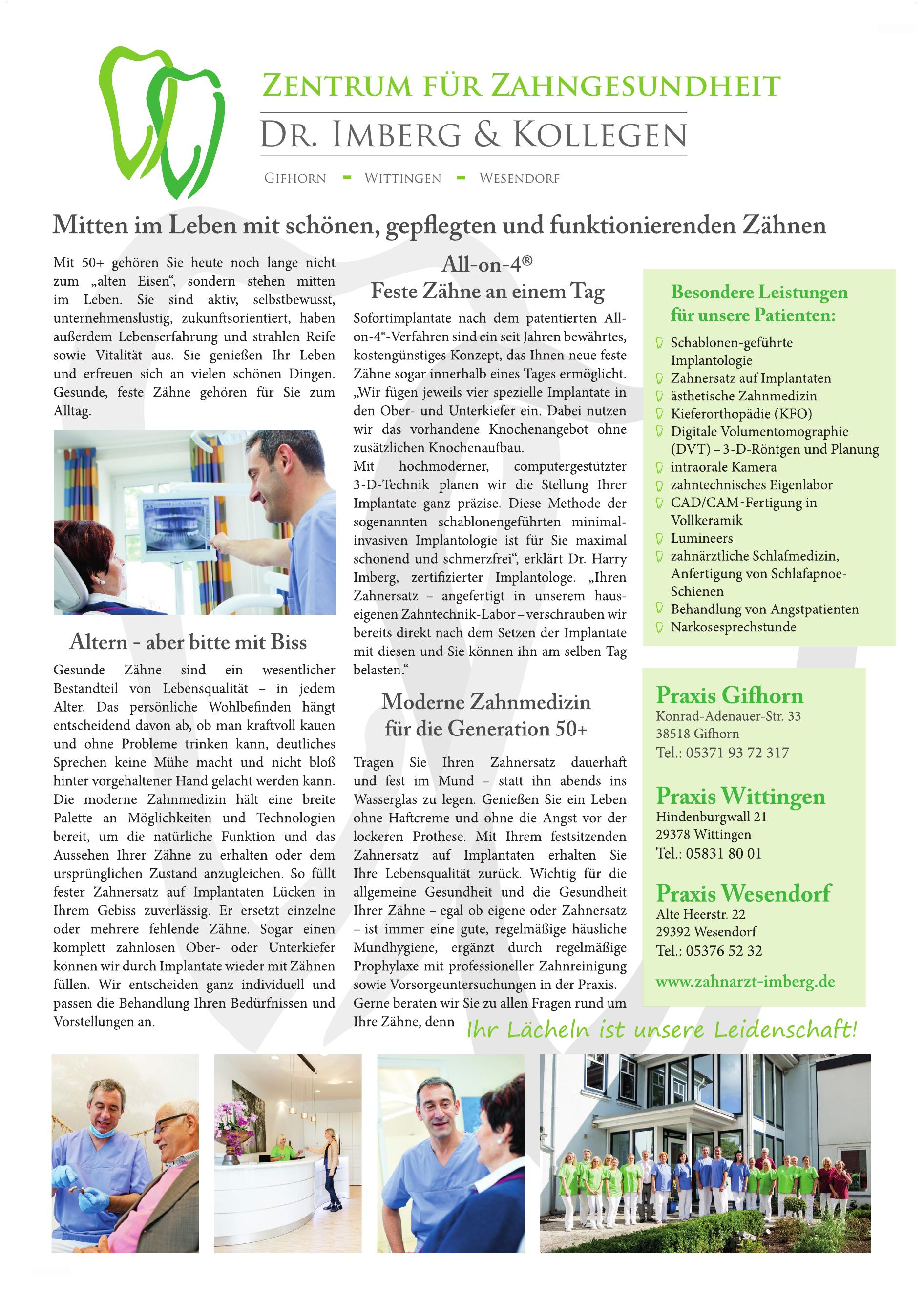 Zentrum für Zahngesundheit, Dr. Imberg & Kollegen