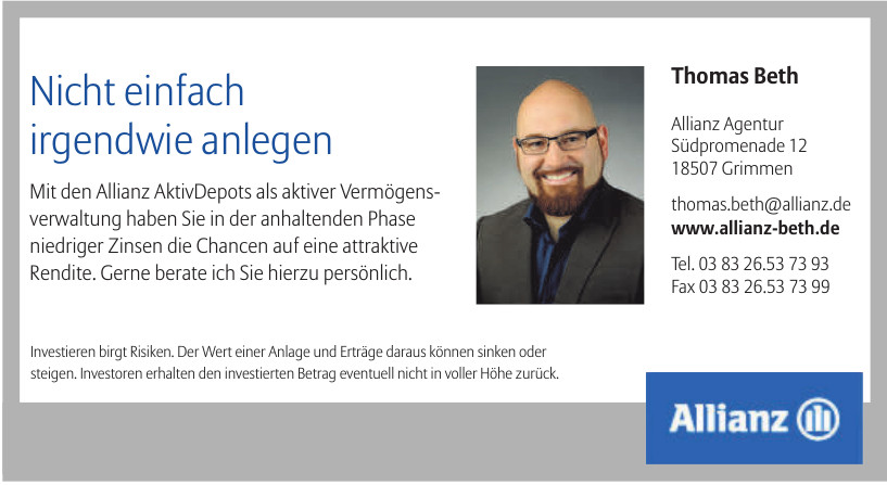 Thomas Beth Allianz Agentur