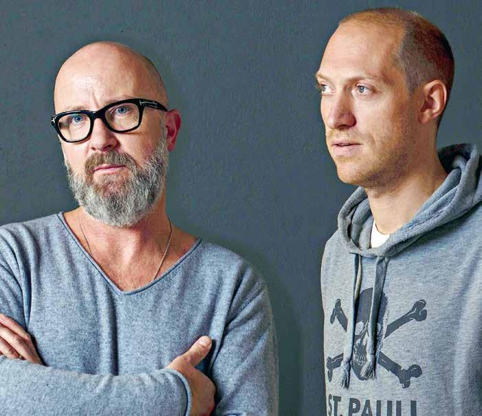 Kreativ-Duo: Jürgen Nerger und Jan Mueller-Wiefel machen alles, was mit gutem Design und Kunst zu tun hat. Im weitesten Sinne!