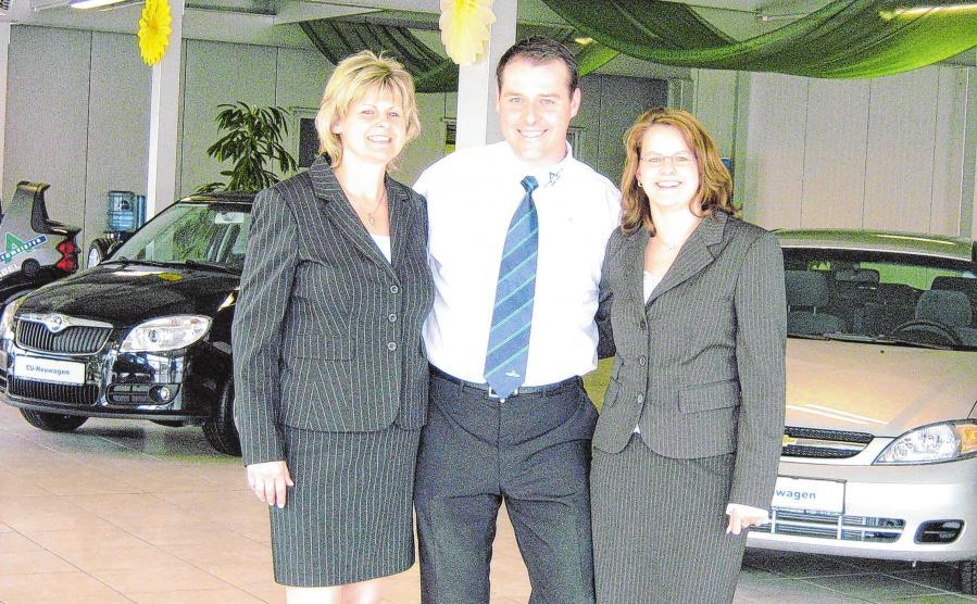 Wie alles begann: 2001 gründeten Renate Zabel und Sohn Marko Zabel (v.l.) das Unternehmen. Foto: privat