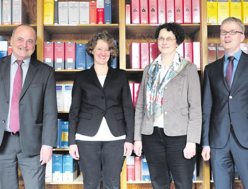 Peter Heine (von links) mit Lioba Huss, Dr. Anja Marquardt und Mike Witt. Foto: privat